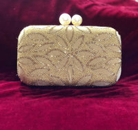 Designer clutch with velvet with handwork - Indian Wedding Bazar