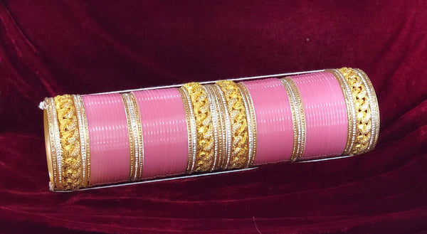Light Pink Gold and AD Chura