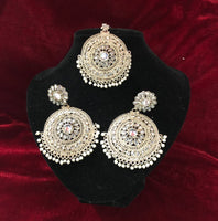 Round Polki Tikka Set - Indian Wedding Bazar