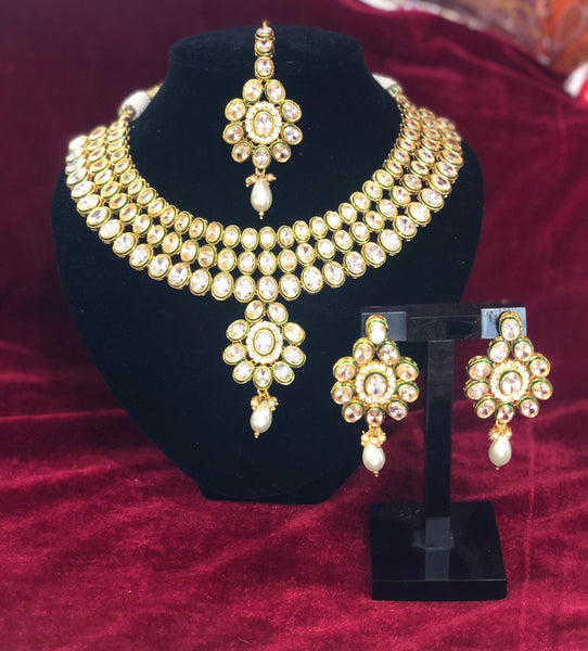 Kundan Necklace Set - Indian Wedding Bazar