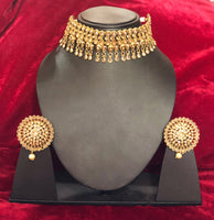 Designer Polki Choker Set - Indian Wedding Bazar