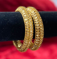 Polki LCT Bangles Set of 2 - Indian Wedding Bazar