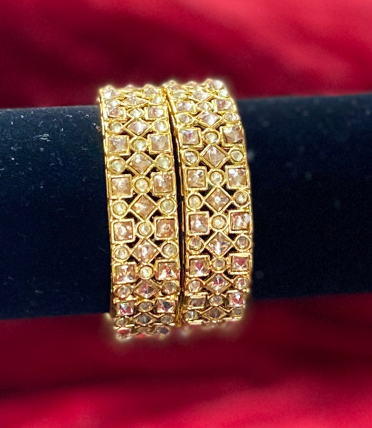 Square Polki LCT Bangles Set of 2