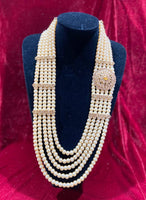 Regal Polki(Golden pearls)Groom's Mala - Indian Wedding Bazar