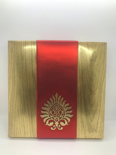 Red and golden dry fruit box