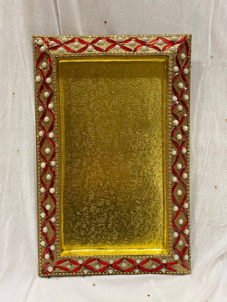 Small Red and Gold Tray