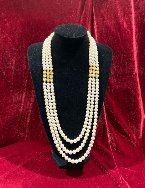 Double Pendant Kundan Groom's Mala - Indian Wedding Bazar