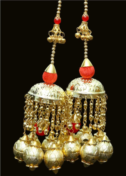 Traditional Gold with Red Pompom - Indian Wedding Bazar