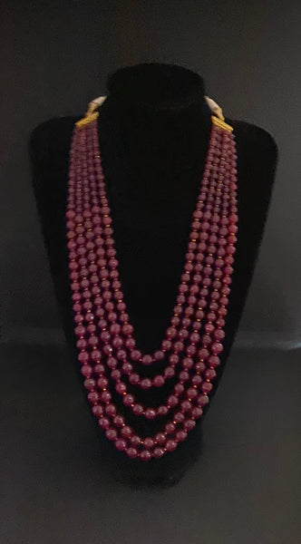 Ruby Groom's Mala - Indian Wedding Bazar