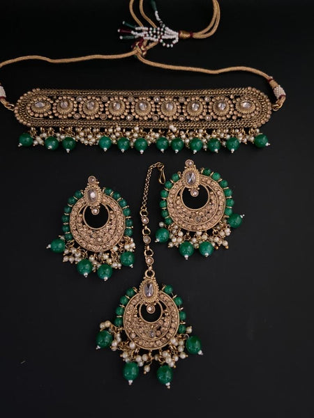 JESSY Polki Choker Set - Indian Wedding Bazar