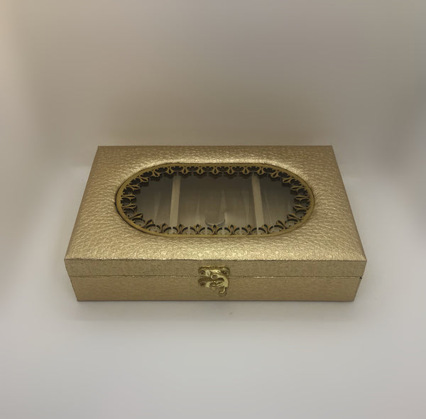 Golden dry fruit box