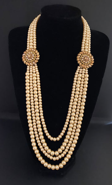 Polka Double Brooch Groom's Mala - Indian Wedding Bazar