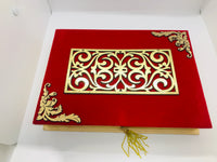 Red velvet mithai box (Large) - Indian Wedding Bazar