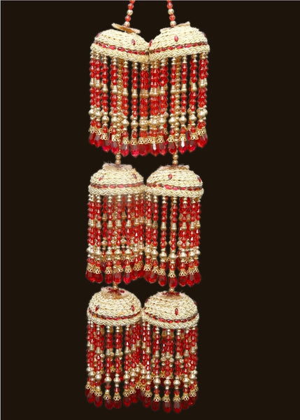 Burgundy Pearl Kalire - Indian Wedding Bazar