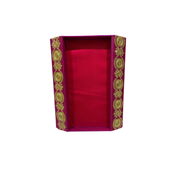 Magenta Zardosi Tray (Medium)