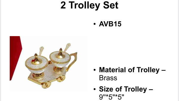 Silver plated trolley gift set