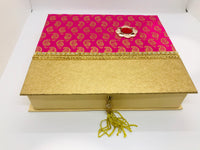 Pink paisley sweet box (small) - Indian Wedding Bazar