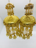 Golden kalire with ghungroo and pearls