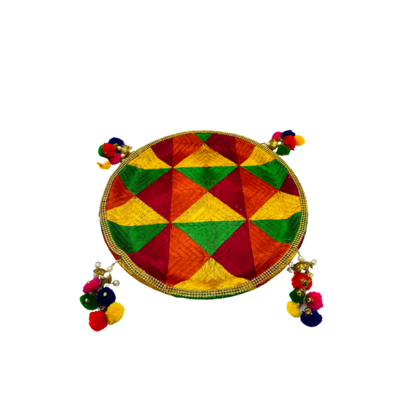 Decorated Phulkari Thal (Medium)