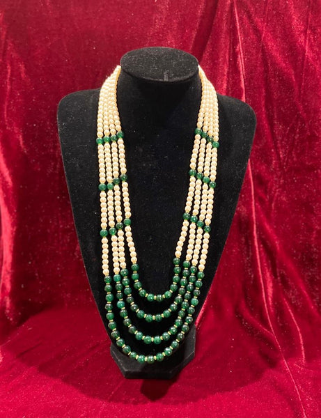 Emerald Green Groom's Mala - Indian Wedding Bazar