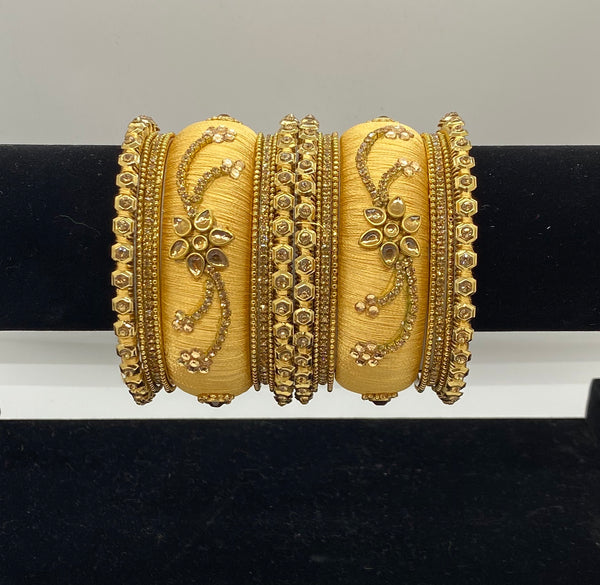 SANIA Silk Thread Bangle Set