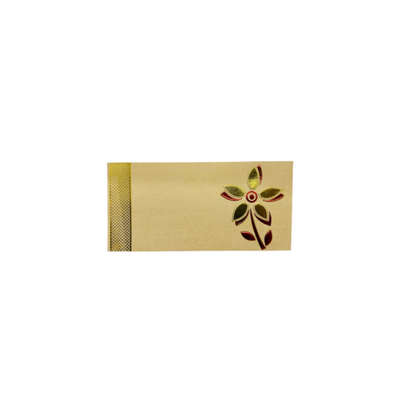 Gold (flower) money envelope (pack of 10)