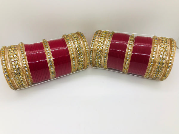 Bridal Chura with stones bangles - Indian Wedding Bazar
