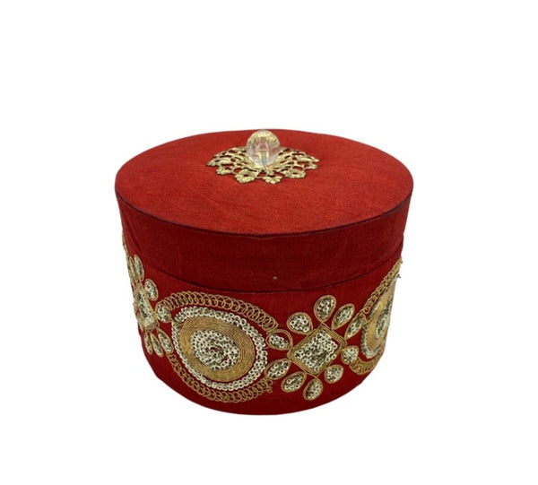 Designer Round Box (Red)