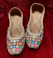 Women Punjabi Jutti Multi Color - Indian Wedding Bazar