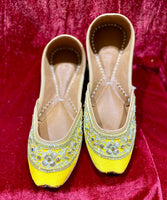 Women Punjabi Jutti Yellow - Indian Wedding Bazar