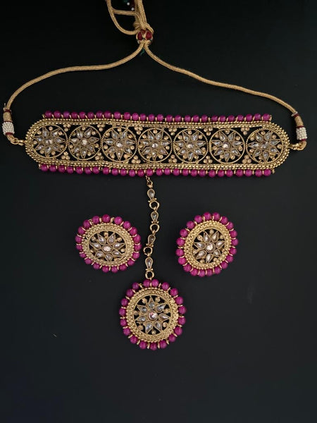 BELLA - Polki Choker Set - Indian Wedding Bazar