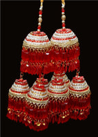 Maroon Pearl Kalire - Indian Wedding Bazar