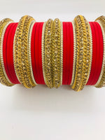 Designer bangle set with kada - Indian Wedding Bazar