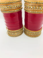 Bridal Chura with stone bangles - Indian Wedding Bazar