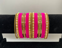 ASMA Velvet Bangle Set (2 hands) - Indian Wedding Bazar