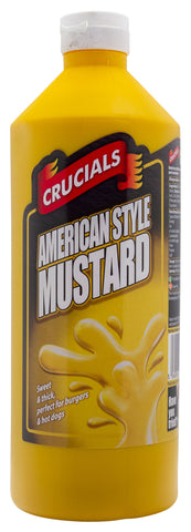 Crucials American Style Mustard Squeezy Sauce 1ltr