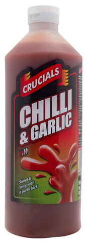 Crucials Chilli & Garlic Squeezy Sauce 500ml