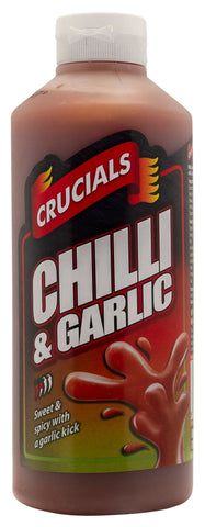Crucials Chilli & Garlic Squeezy Sauce 1ltr