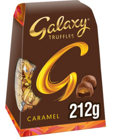 Galaxy Truffles Caramel Chocolate Medium Gift Box 212g