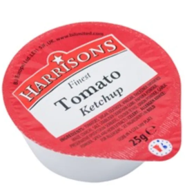 Wholesale Harrisons Tomato Ketchup 100x25g