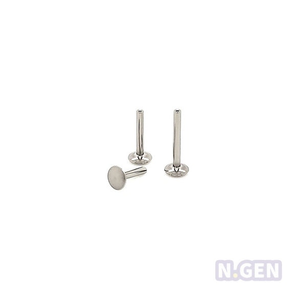 16g(1.2mm) Thredless Push In Labret Shaft-316L S. Steel
