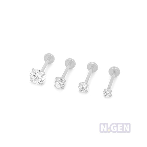CZ Top Bottom Push-Back Labret 20g(0.8mm)-316L S. Steel