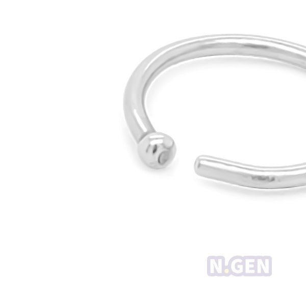 Nose Hoop with Ball 20g Flexible-316L S. Steel**3pcs/pack