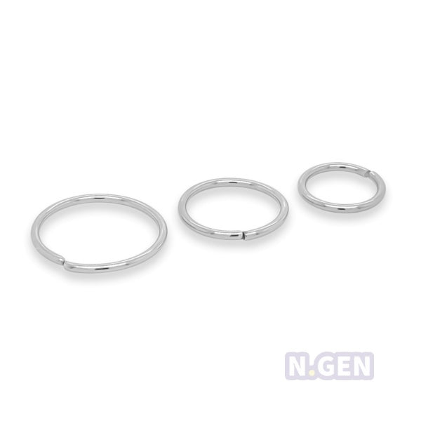 Nose Hoop 18g Flexible-316lL S. Steel**3psc/pack