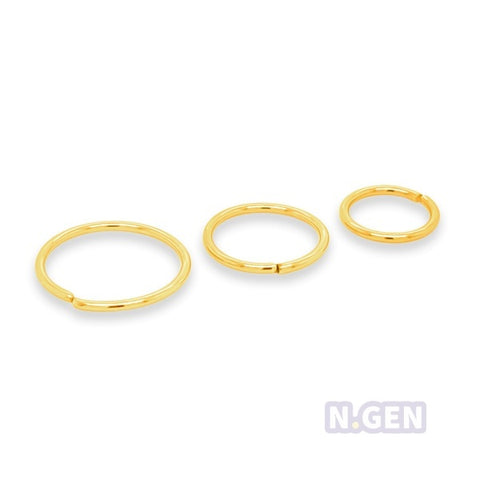 Nose Hoop 22g Flexible-316lL S. Steel**3psc/pack
