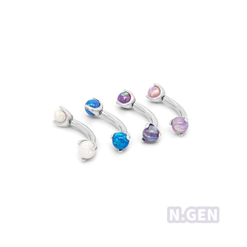 Claw Set Opal Eyebrow-316L S. Steel
