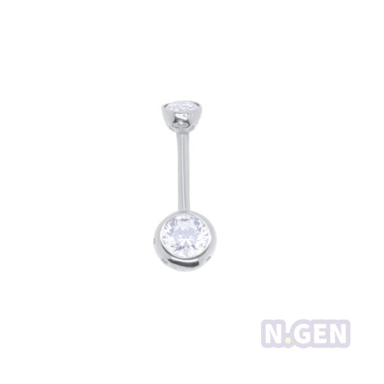 **Arrived** 14K Gold 14g * 4 & 6mm  Swarovski New Navel Ring
