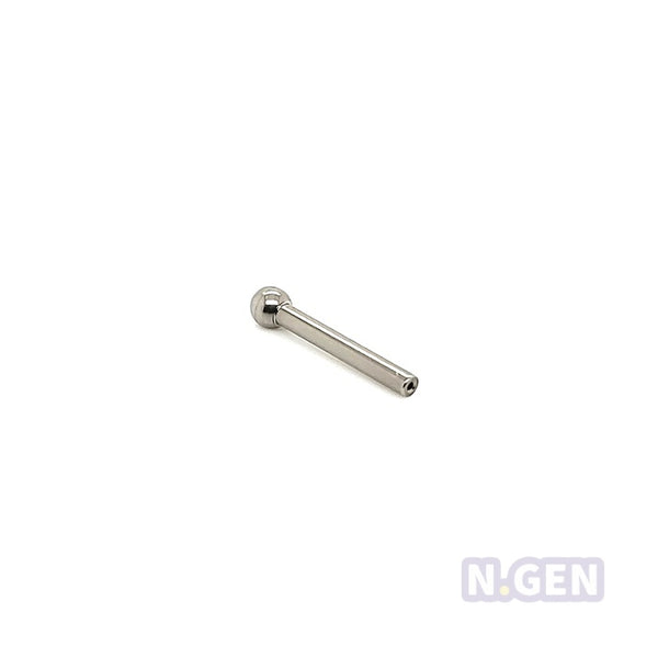 16g(1.2mm) Ball Fixed Threadless Push In Barbell Shaft-F136 Eli Titanium