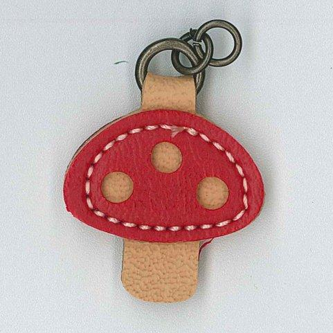Zip Pull Toadstool - red