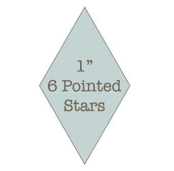 "1"" 6 Pointed Star Papers with Template"